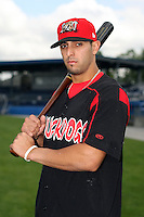 August 26 2008:  Second baseman Alex Castellanos of the Batavia Muckdogs, Class-A affiliate of the St. Louis Cardinals, during a game at Dwyer Stadium in Batavia, NY.  Photo by:  Mike Janes/Four Seam Images
