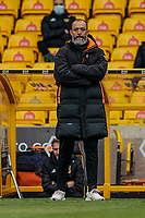 23rd May 2021; Molineux Stadium, Wolverhampton, West Midlands, England; English Premier League Football, Wolverhampton Wanderers versus Manchester United; Nuno Manager of Wolverhampton Wanderers watching his players for the last time
