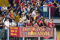 23rd September 2021;  Stadio Olimpicom, Roma, Italy; Serie A League Football, Roma versus Udinese; Roma's supporters cheer on their team