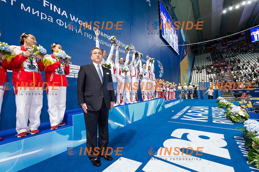 Yakult President<br /> Day 9 01/08/2015<br /> XVI FINA World Championships Aquatics<br /> Synchro<br /> Kazan Tatarstan RUS July 24 - Aug. 9 2015 <br /> Photo Giorgio Scala/Deepbluemedia/Insidefoto