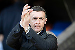 St Johnstone v Dundee….03.04.19   McDiarmid Park   SPFL<br />Jim McIntyre applauds the Dundee fans<br />Picture by Graeme Hart. <br />Copyright Perthshire Picture Agency<br />Tel: 01738 623350  Mobile: 07990 594431