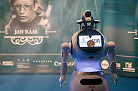 podium ceremony (robot) miss/mister<br /> <br /> 64th E3 Classic 2021 (1.UWT)<br /> 1 day race from Harelbeke to Harelbeke (BEL/204km)<br /> <br /> ©kramon