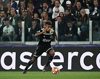 Football Soccer: UEFA Champions UEFA Champions League quarter final second leg Juventus - Ajax, Allianz Stadium, Turin, Italy, March 12, 2019. <br /> Ajax's David Neres in action during the Uefa Champions League football match between Juventus and Ajax  at the Allianz Stadium, on March 12, 2019.<br /> UPDATE IMAGES PRESS/Isabella Bonotto