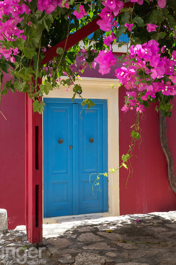 A beautiful doorway and house entrance on Kastellorizo, Greece