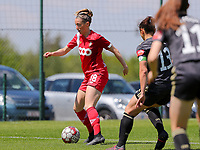 Charlotte Cranshoff (18) of Standard  in action during a female soccer game between Standard Femina de Liege and Oud Heverlee Leuven on the 10th and last matchday in play off 1 of the 2020 - 2021 season of Belgian Scooore Womens Super League , saturday 29 th of May 2021  in Angleur , Belgium . PHOTO SPORTPIX.BE | SPP | SEVIL OKTEM