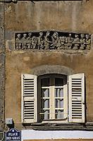 Europe/France/Auvergne/63/Puy-de-Dôme/Clermont-Ferrand: Détail linteau roman rue des Gras