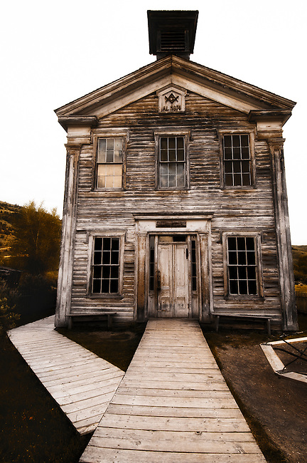 Old school house at Bannack State Park, Montana.
