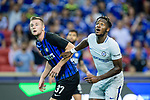 FC Internazionale Defender Milan Skriniar (L) competes for the ball with Chelsea Forward Michy Batshuayi (R) during the International Champions Cup 2017 match between FC Internazionale and Chelsea FC on July 29, 2017 in Singapore. Photo by Weixiang Lim / Power Sport Images