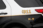 Police K-9 dog car