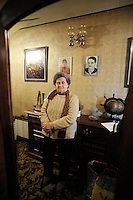 Salvadora Arranz, 87 years old, is pictured in her home of Irun on february 19, 2009, in the Basque Country. Salvadora Arranz has two sons, Antxon and Txomin Troitiño, that are imprisoned in two Spanish prisons to more than 800 kilometres from the Basque Country. Salvadora receives a weekly call timed 4 minutes and 58 seconds of each son..Bostok Photo: Ander Gillenea
