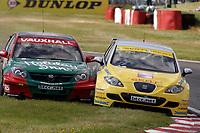 Round 7 of the 2007 British Touring Car Championship. #11 Jason Plato (GBR). SEAT Sport UK. SEAT Leon. #5 Fabrizio Giovanardi (ITA). VX Racing. Vauxhall Vectra.