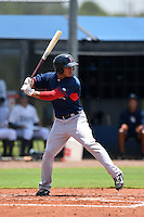 GCL Red Sox outfielder Jordon Austin (40) at bat during a game against the GCL Rays on June 24, 2014 at Charlotte Sports Park in Port Charlotte, Florida.  GCL Red Sox defeated the GCL Rays 5-3.  (Mike Janes/Four Seam Images)