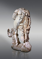 Roman statue of Hercules. Marble. Perge. 2nd century AD. Inv no . Antalya Archaeology Museum; Turkey.