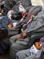 Musikerinnen bei Feier zu Buddha's Geburtstag, Andong, Provinz Gyeongsangbuk-do, Südkorea, Asien<br /> musicians at celebrations for Buddha's birthday  in Andong,  province Gyeongsangbuk-do, South Korea, Asia