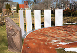 SIMSBURY CT. - 09 January 2020-010921SV07-A new outdoor memorial at the Simsbury Free Library to Martin Luther King Jr. will be unveiled on MLK day in Simsbury. <br /> Steven Valenti Republican-American