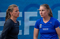 Zandvoort, Netherlands, 8 June, 2019, Tennis, Play-Offs Competition, womans doubles: Daniëlle Harmsen and Quirine Lemoine (L) (NED)<br /> Photo: Henk Koster/tennisimages.com