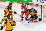 Eishockey: Deutschland – Tschechien am 01.05.2021 in der ARENA Nürnberger Versicherung in Nürnberg<br /> <br /> Torchance für Tschechiens Jiri Cernoch (Nr.94) gegen Deutschlands Torhüter Andreas Jenike (Nr.92)<br /> <br /> Foto © Duckwitz/osnapix/PIX-Sportfotos *** Foto ist honorarpflichtig! *** Auf Anfrage in hoeherer Qualitaet/Aufloesung. Belegexemplar erbeten. Veroeffentlichung ausschliesslich fuer journalistisch-publizistische Zwecke. For editorial use only.