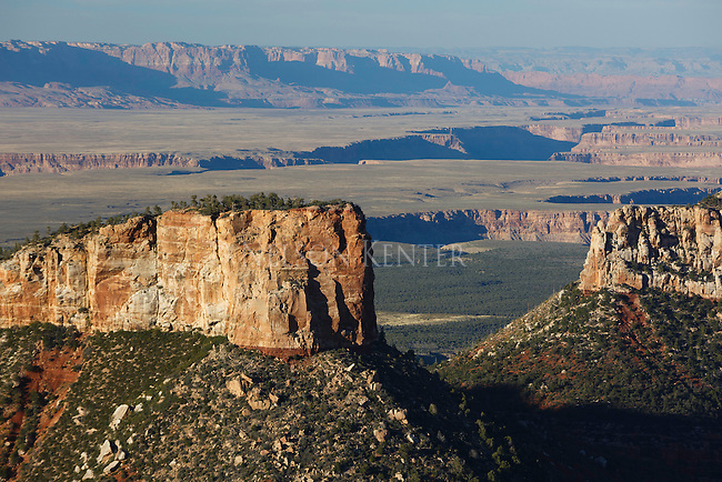 rock formations and canyons at the north rim of grand canyon