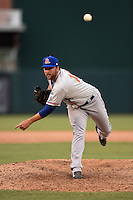 St. Lucie Mets pitcher Kyle Regnault (16) delivers a pitch during a game against the Fort Myers Miracle on April 19, 2015 at Hammond Stadium in Fort Myers, Florida.  Fort Myers defeated St. Lucie 3-2 in eleven innings.  (Mike Janes/Four Seam Images)