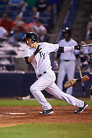 Tampa Yankees left fielder Zack Zehner (36) at bat during a game against the Lakeland Flying Tigers on April 8, 2016 at George M. Steinbrenner Field in Tampa, Florida.  Tampa defeated Lakeland 7-1.  (Mike Janes/Four Seam Images)