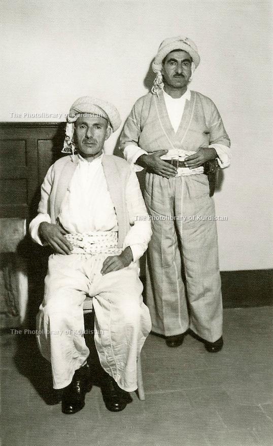 Irak 1958.Sheikh Ahmed Barzani et Mustafa Barzani a Bagdad.Iraq 1958.Sheikh Ahmed Barzani and Mustafa Barzani in Baghdad