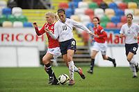 Carli Lloyd vs Norway in the 2010 Algarve Cup