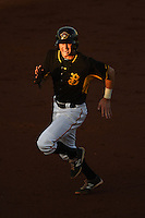 Bradenton Marauders second baseman Erich Weiss (6) running the bases during a game against the Charlotte Stone Crabs on April 22, 2015 at McKechnie Field in Bradenton, Florida.  Bradenton defeated Charlotte 7-6.  (Mike Janes/Four Seam Images)