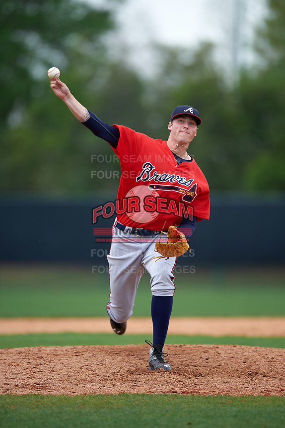 Atlanta Braves Dalton Geekie (85) during an intrasquad Spring Training game on March 29, 2016 at ESPN Wide World of Sports Complex in Orlando, Florida.  (Mike Janes/Four Seam Images)