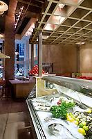 vitrine freezer Milos Restaurant New York City