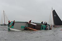 ZEILSPORT: ECHTENERBRUG: 15-08-2019, IFKS Skûtsjesilen, Skûtsje 'De Drie Gebroeders' (Gorredijk) slaat om, schipper Harmen Brouwer, ©foto Martin de Jong