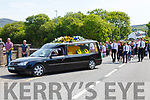 The Funeral Cortege for the late Barry Clifford as it arrived at the Church of The Most Precious Blood, Castlecove on Monday.