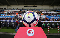 The official match ball before kick off during the Premier League match between Swansea City and Watford at The Liberty Stadium, Swansea, Wales, UK. Saturday 23 September 2017
