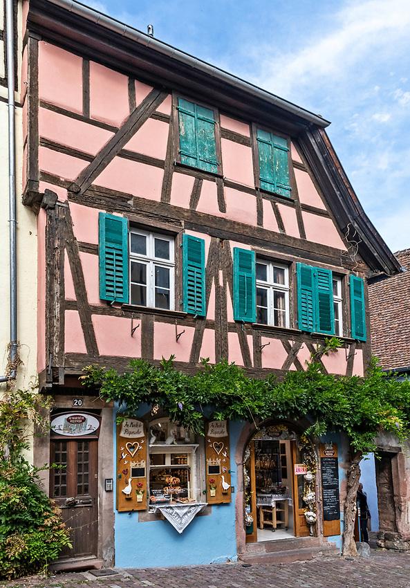 Shop selling Alsatian specialty foods in Riquewihr, Alsace