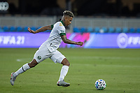 SAN JOSE, CA - SEPTEMBER 16: Andy Polo #7 of the Portland Timbers controls the ball during a game between Portland Timbers and San Jose Earthquakes at Earthquakes Stadium on September 16, 2020 in San Jose, California.