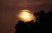 Rio de Janeiro State, Brazil. Sunset over Mata Atlantica rain forest.
