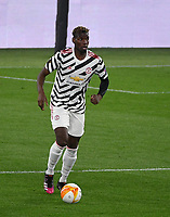 Football: Uefa Europa League - semifinal 2nd leg AS Roma vs Manchester United Olympic Stadium. Rome, Italy, May 6, 2021.<br /> Manchester United's Paul Pogba in action during the Europa League football match between Roma and Manchester United at Rome's Olympic stadium, Rome, on May 6, 2021.  <br /> UPDATE IMAGES PRESS/Isabella Bonotto