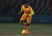 Mitchell Rose of Newport County in action during the Sky Bet League Two match between Newport County and Grimsby Town at Rodney Parade, Newport, Wales, UK. Tuesday 14 February 2017