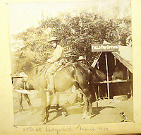 BNPS.co.uk (01202) 558833<br /> Pic: Charles Miller/BNPS<br /> <br /> Where's my money? The field pay office <br /> <br /> A fascinating photo album compiled by a British naval officer on tour in the Far East at the turn of the 20th century has come to light.<br /> <br /> Taprell Dorling served on the HMS Terrible in 1900 at the start of an over 30 year career at sea.<br /> <br /> The album, containing 74 photos, has emerged for sale with auctioneers Charles Miller, of London, with an estimate of £3,000.
