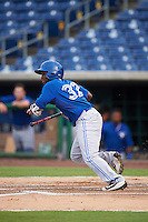 GCL Blue Jays center fielder Chavez Young (32) at bat during a game against the GCL Phillies on August 16, 2016 at Bright House Field in Clearwater, Florida.  GCL Blue Jays defeated GCL Phillies 2-1.  (Mike Janes/Four Seam Images)
