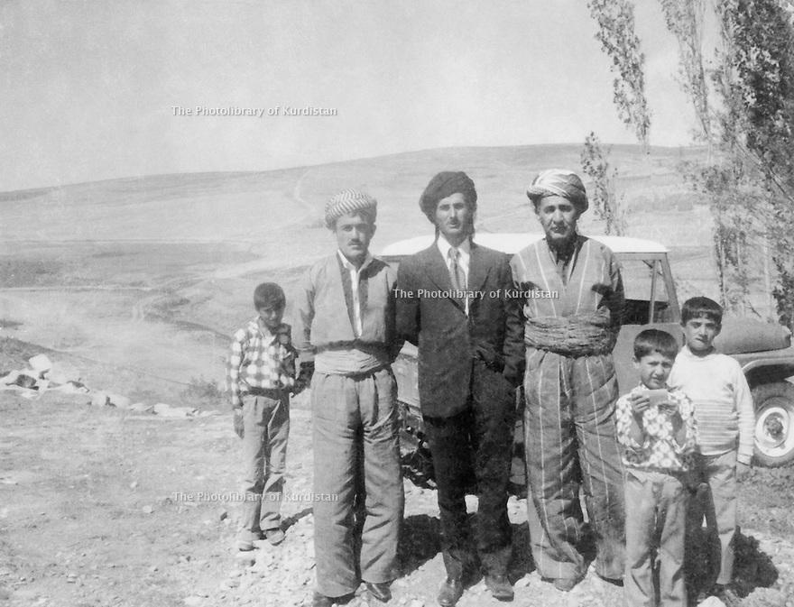 Iran 1972 .Near Rezaieh, from left to right, Akram Agha, Taher Khan,Kemal Agha , brother of Assad Agha  .Iran 1972 .Pres de Rezaieh, de gauche a droite,Akram Agha, Taher Khan , Kemal Agha, frere de Assad Agha