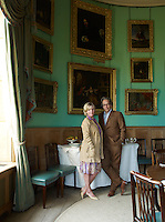 Lord and Lady March in their private dining room