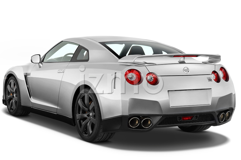 Rear three quarter view of a 2009 Nissan GTR Coupe