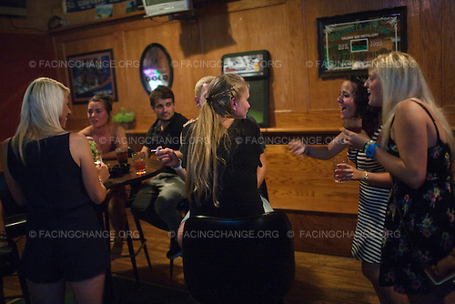 Scranton, Pennsylvania.July 31, 2012..Summer camp counselors come into town for a night out...Photograph by Alan Chin.