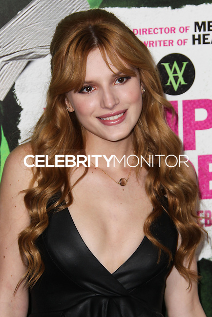 """LOS ANGELES, CA - FEBRUARY 04: Bella Thorne at the Los Angeles Premiere Of The Weinstein Company's """"Vampire Academy"""" held at Regal Cinemas L.A. Live on February 4, 2014 in Los Angeles, California. (Photo by Xavier Collin/Celebrity Monitor)"""