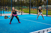 Netherlands, September 6,  2020, Amsterdam, Padel Dam, NK Padel, National  Junior Padel Championships, girls doubles<br /> Photo: Henk Koster/tennisimages.com
