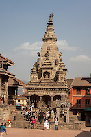 Bhaktapur, Nepal.  Durbar Square, Vatsala Durga Temple, completely destroyed in the earthquake of April 2015.