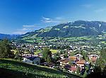 Austria, Tyrol, Kitzbuehel and mountain Kitzbueheler Horn (1.996 m)