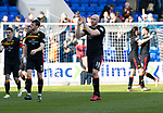 St Johnstone v Partick Thistle…28.04.18…  McDiarmid Park    SPFL<br />Conor Sammon applauds the fans at full time<br />Picture by Graeme Hart. <br />Copyright Perthshire Picture Agency<br />Tel: 01738 623350  Mobile: 07990 594431