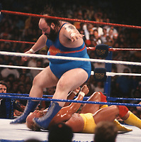 Hulk Hogan & Earthquake 1990<br /> Photo By John Barrett/PHOTOlink