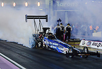 Oct. 26, 2012; Las Vegas, NV, USA: NHRA top fuel dragster driver J.R. Todd during qualifying for the Big O Tires Nationals at The Strip in Las Vegas. Mandatory Credit: Mark J. Rebilas-